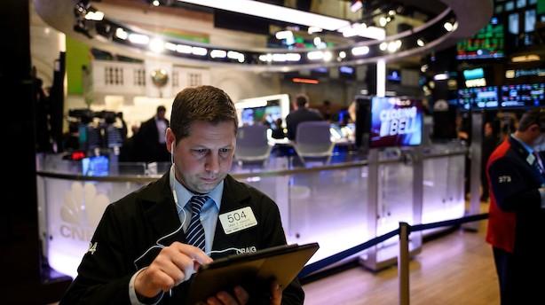 Aktier i USA: Stigninger skudt ned af handelsbekymring