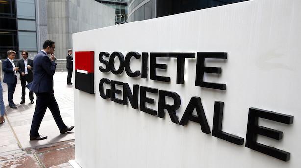 Aktier i Europa: Fyringer i fransk storbank gav fald i grønt marked