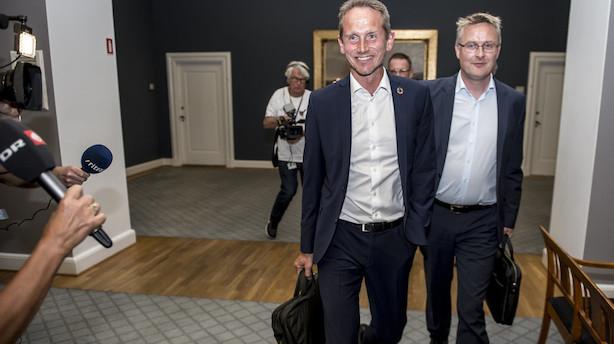 Del af V-bagland støtter Kristian Jensens nej til SV-regering