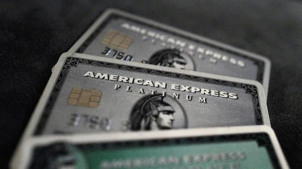 Bedre end ventet fra American Express - men afdæmpede erhvervsudsigter skuffer