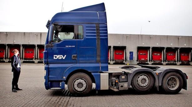 Aktier/middag: DSV halter efter i forsigtigt marked