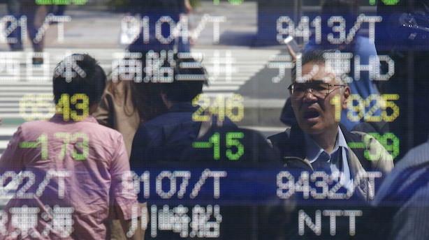Aktier: Asiatiske markeder ligger badet i rødt