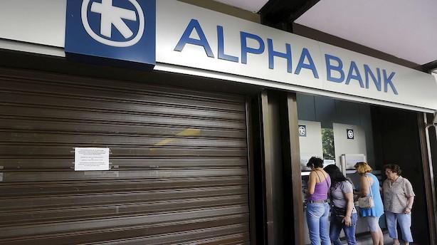 Græske bankgiganter risikerer kapitalhug på 15,5 mia euro under ny finanskrise