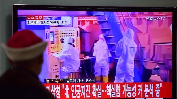 Verden fordømmer Nordkoreas prøvesprængning af brintbombe