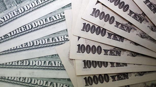 Valuta: Urolig handel støtter op om dollar og yen