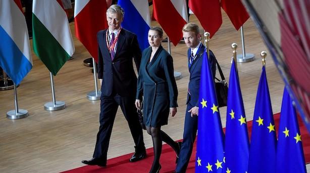"""Mette Frederiksen er ankommet til EU-topmøde: """"Utroligt at det er lykkedes to minutter i 12"""""""