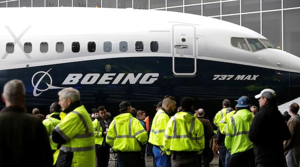 Boeing-aktien falder tungt efter 737 MAX-oplysninger