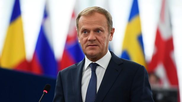Tusk før topmøde: Vi er vidne til EU's tilbagevenden som en løsning