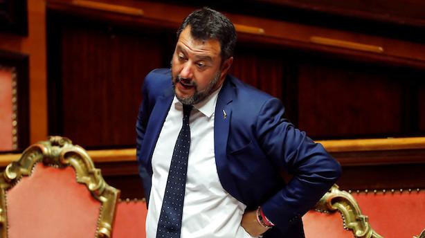 Italien: Salvini anbefaler nyvalg - Regeringen er færdig