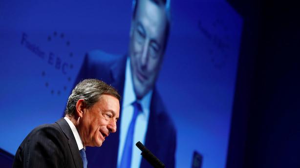 Mario Draghi Live: Låntagere skal betale mindre for negative renter