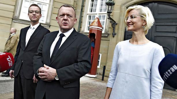 Løkke: På en trist baggrund står vi tilbage med en stærk regering