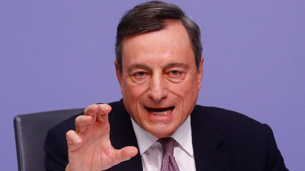 ECB fastholder renten: Dropper vigtig formulering om opkøb