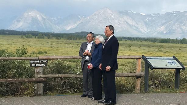 Jackson Hole er skudt i gang: En hel verden tripper efter nyt om renterne