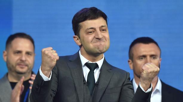 Komiker med uklare ambitioner ligner Ukraines nye præsident