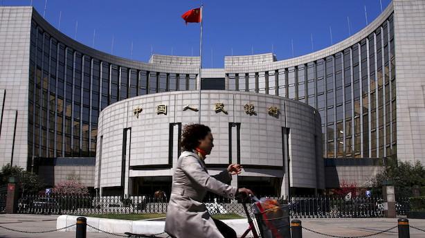 Kinas centralbank på vej med digital valuta