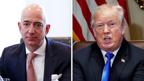 """Trump-tweet koster Amazon 16 mia. dollar: """"Det er ren krig"""""""