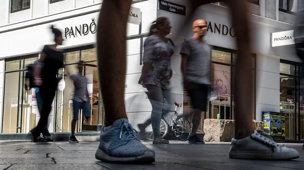 Aktiestatus: Pandora hægtet af i optur for danske eliteaktier