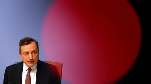 Draghi gentager sit 2012-løfte:  ECB er klar med alle værktøjer til at bekæmpe en kommende krise