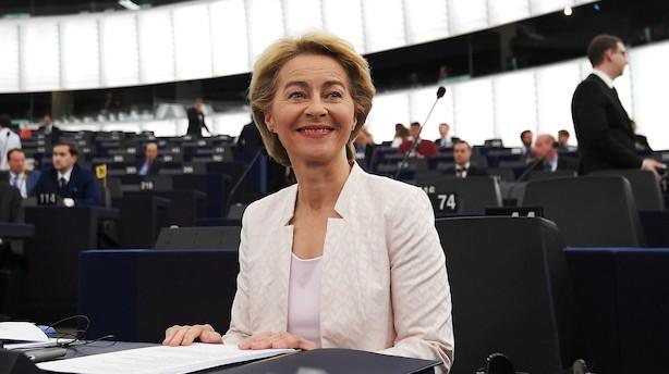 Europa-Parlamentet godkender Ursula von der Leyen som ny kommissionsformand