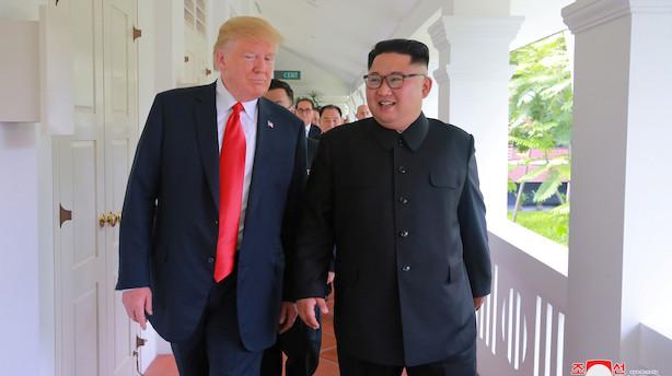 """Trump på Twitter: """"Der er ikke længere en atomtrussel fra Nordkorea"""""""