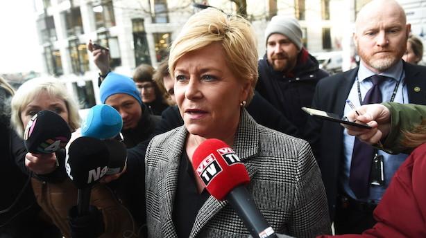 Fremskrittspartiet forlader den norske regering