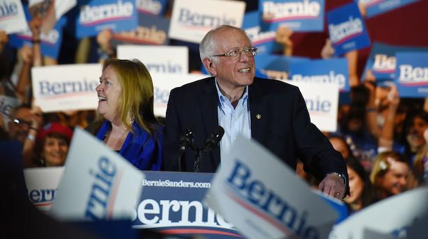 Bernie Sanders erklærer valgsejr i Nevada