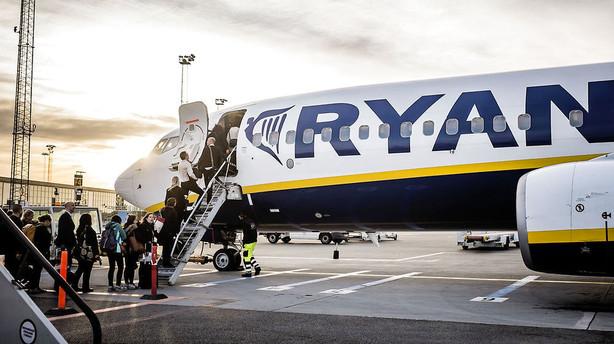 Ryanair lukker rute mellem København og Stockholm
