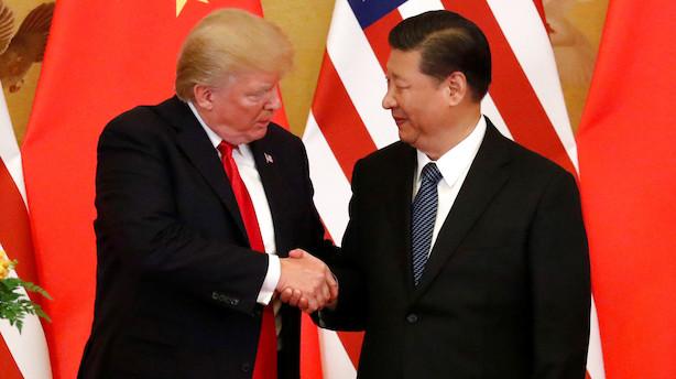 USA og Kina indgår mindre aftale i handelsforhandlingerne