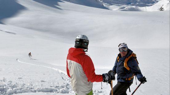 Alpeflække med storslået skiløb