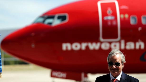 Norwegian bløder milliarder på børsen: Frygt for tom pengekasse giver næstværste aktiedag nogensinde