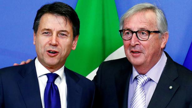 Italien og EU indgår uformel aftale efter historisk budgetkaos