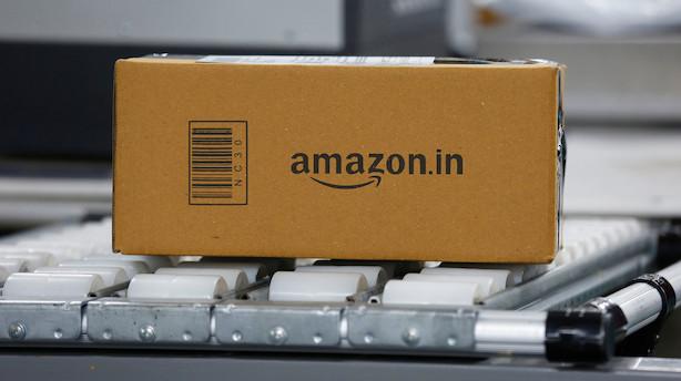 Aktier: Amazon trækker Nasdaq ned i blandet åbning