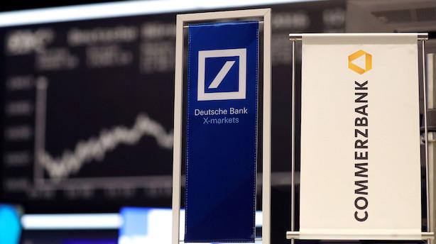 Aktier: Tysk flirt gav vinger til flere europæiske banker