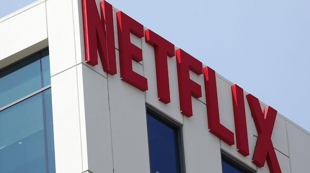 Aktieluk i USA: Netflix fik kursklø i marked der gik fra minus til plus