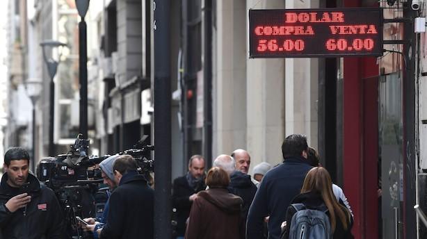 Argentina: Pesoen fortsætter nedad onsdag