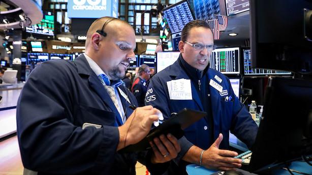 Aktieluk i USA: Kun Dow Jones holdt rekordkurs efter Trump-tweet