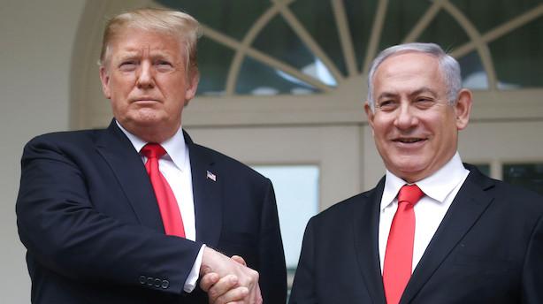 Trump anerkender Golanhøjderne som en del af Israel