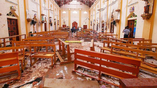 Dødstal efter bombeangreb i Sri Lanka stiger til 290
