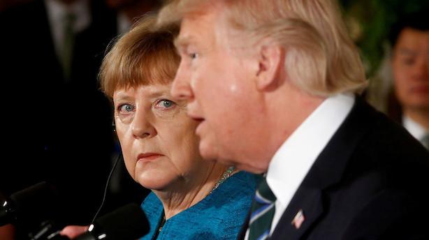 Analyse: Merkel er nu klar til kamp mod Trump