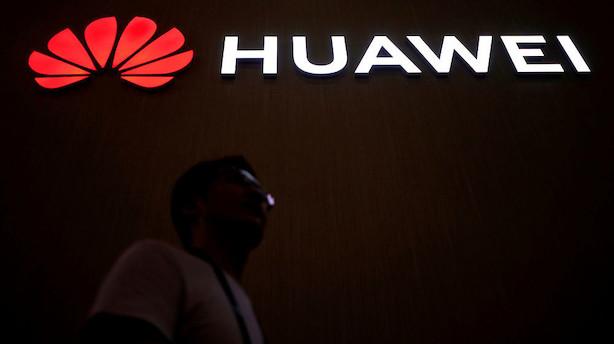 Medie: Huawei spår fald i salg til udlandet på 40-60 procent