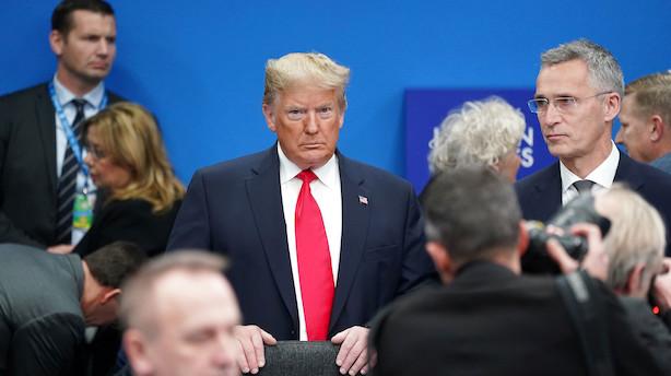 Trump aflyser sit Nato-pressemøde