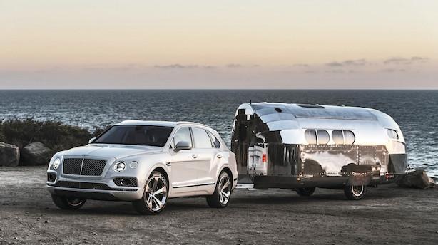 Bentley med ikonisk camper på jydekrogen