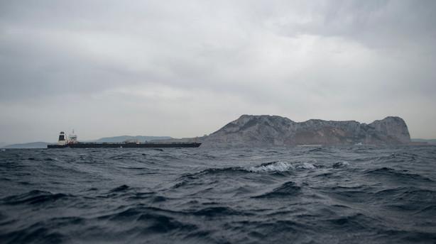 Kaptajn på iransk olietanker i Gibraltar er anholdt