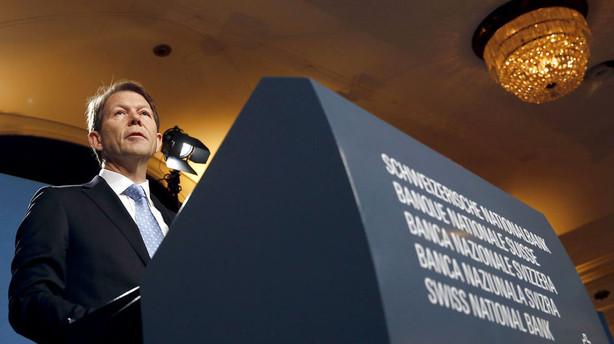 Schweiz advarer om mulig intervention i valutamarkedet