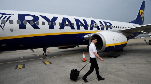 Pilotstrejke i Ryanair giver to aflyste fly i København