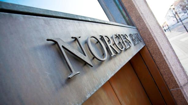 Norges Bank hæver som ventet renten: Norsk krone styrkes