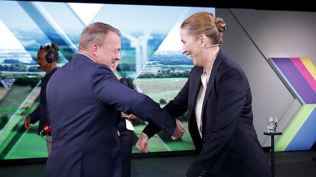 Lars Løkke Rasmussen havde en trumf på hånden men tabte alligevel personslaget til Mette Frederiksen