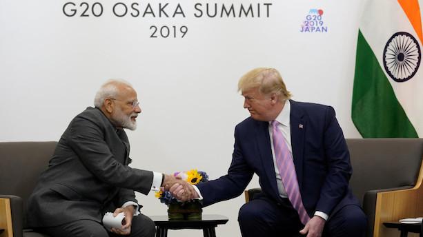 Indien nægter at have bedt Trump mægle i Kashmir-konflikt