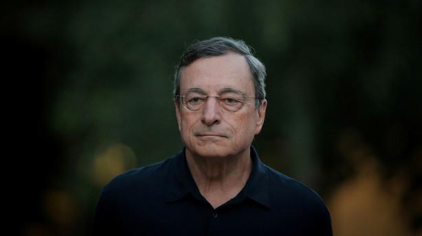 Draghi spotter friske tegn på problemer for økonomien i EU
