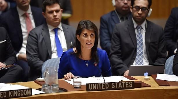 USA er på vej med nye sanktioner mod Rusland